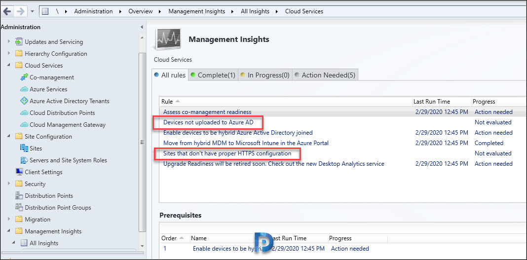 Management insight rules for proper HTTPS configuration
