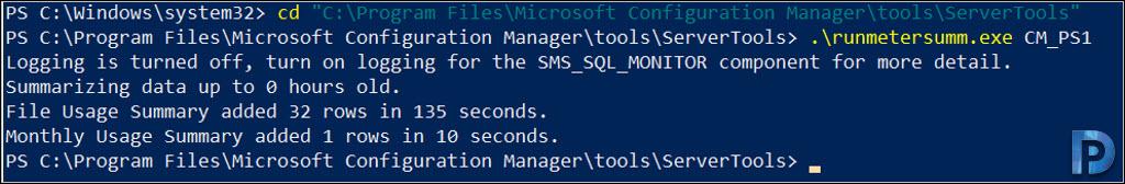 SCCM Software Metering Report is Empty Snap6