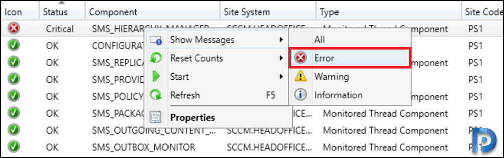 SMS_HIERARCHY_MANAGER Error 3353