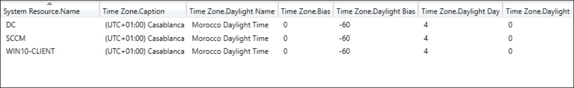 Time Zone Inventory using Configuration Manager Snap10