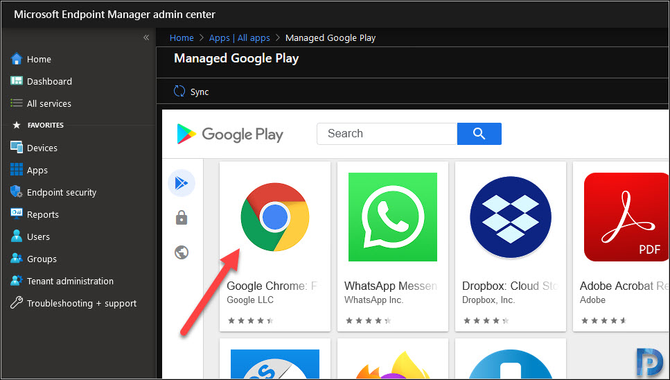 Add the Google Chrome app to Intune Snap3