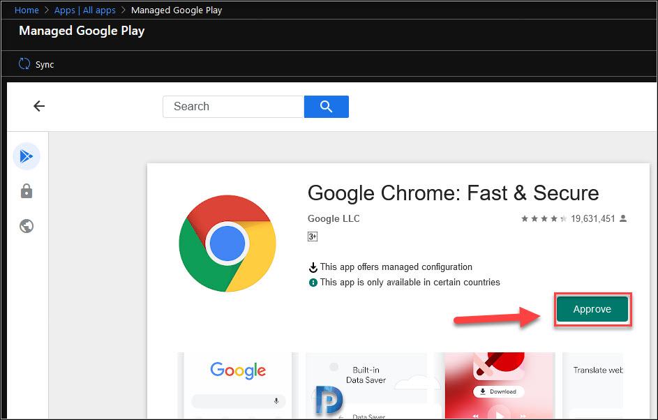 Add the Google Chrome app to Intune Snap4