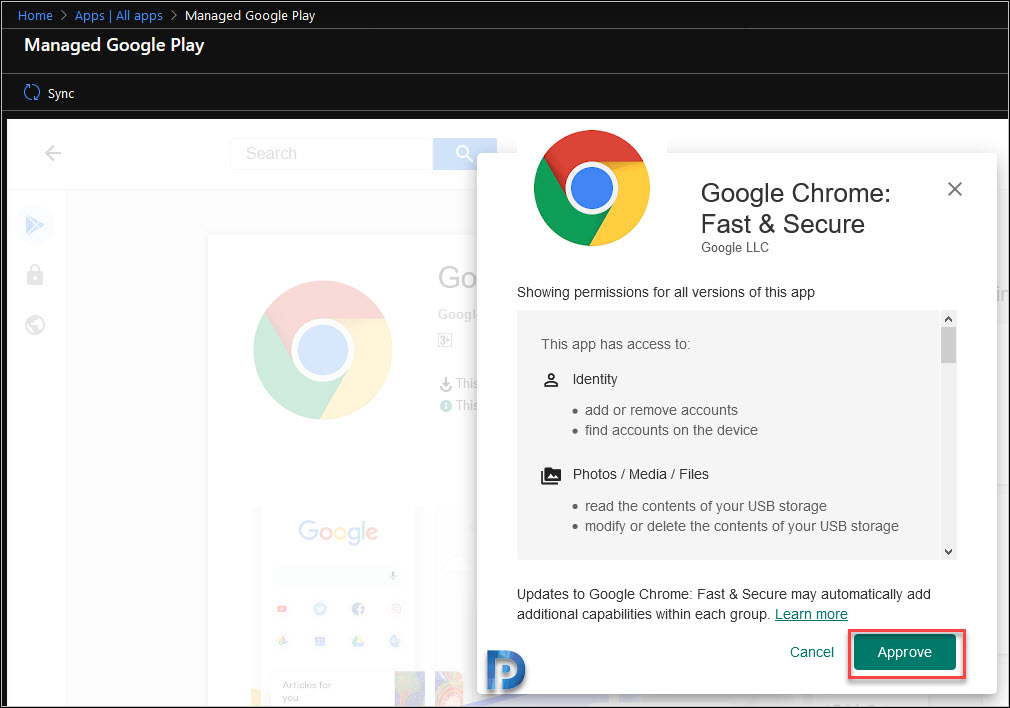 Add the Google Chrome app to Intune Snap5