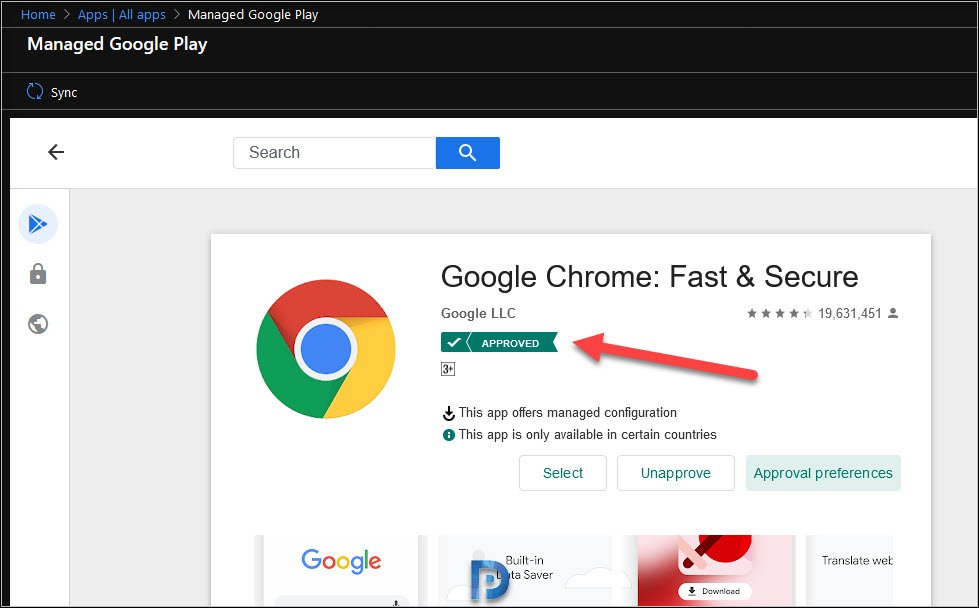 Google Chrome Application Approved