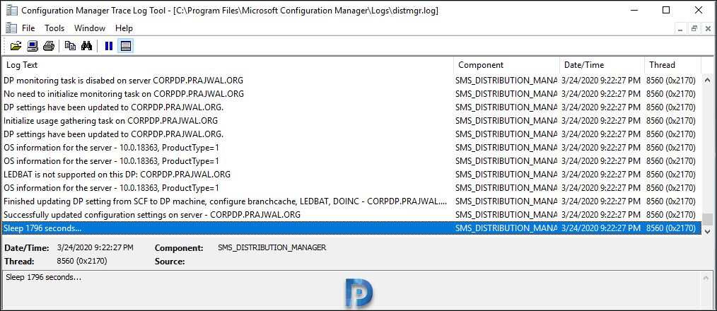 Enable ConfigMgr PXE on Windows 10 Snap20