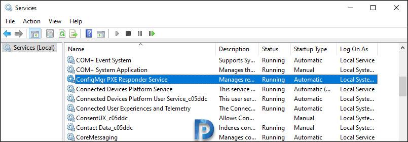 ConfigMgr PXE Responder Service