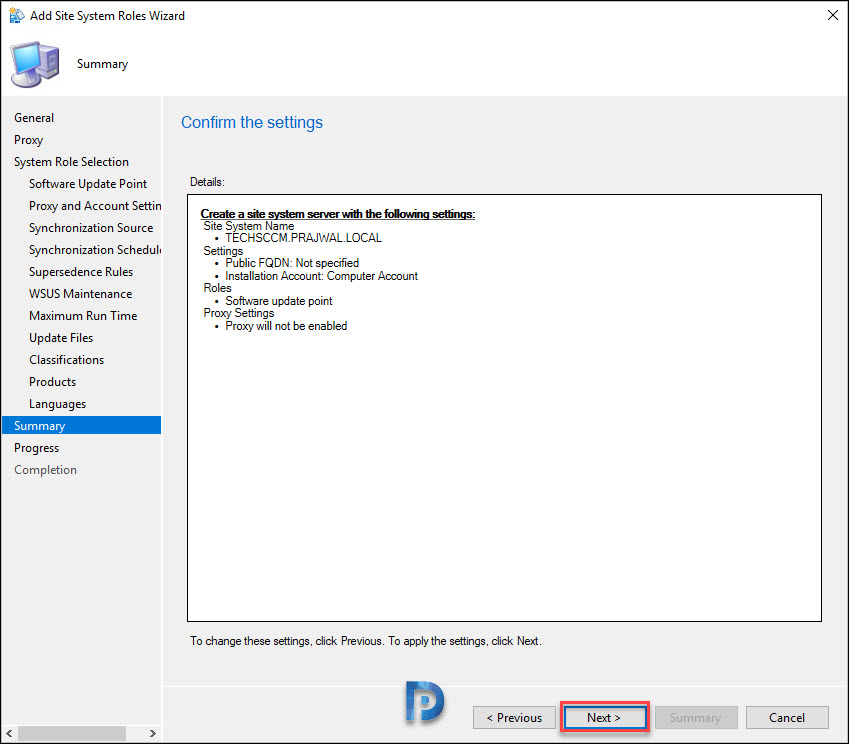 Install SCCM SUP Role
