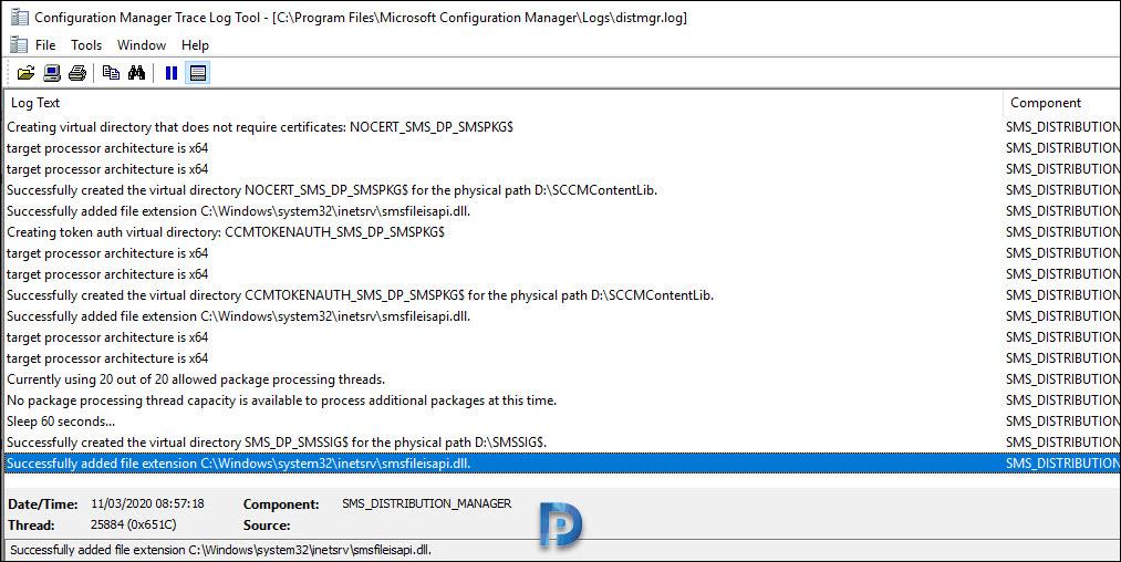 SCCM Content Distribution Error 0x8007ffff