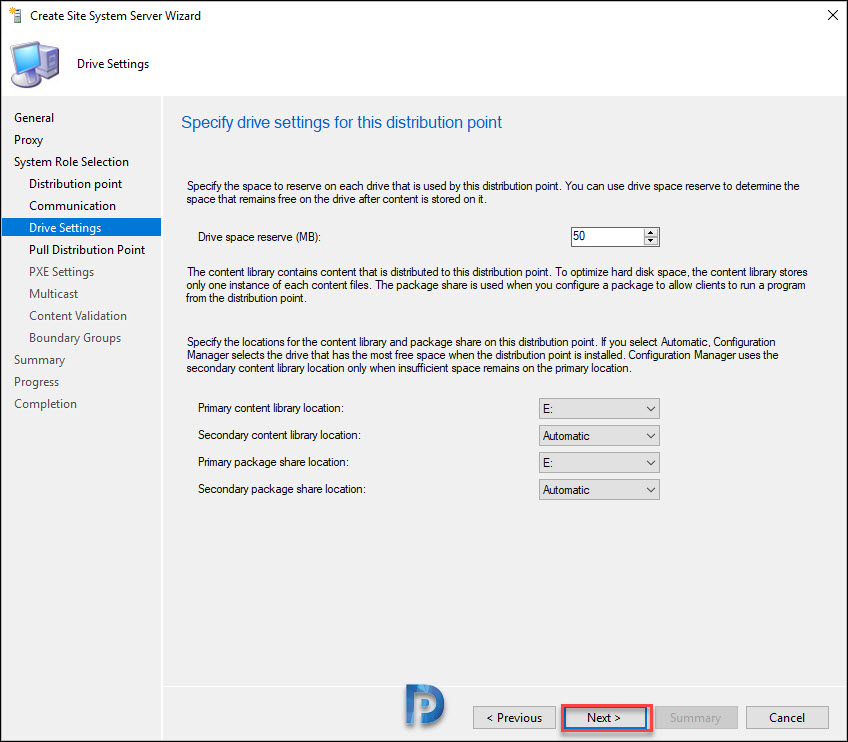 Windows Server Core Install Distribution Point