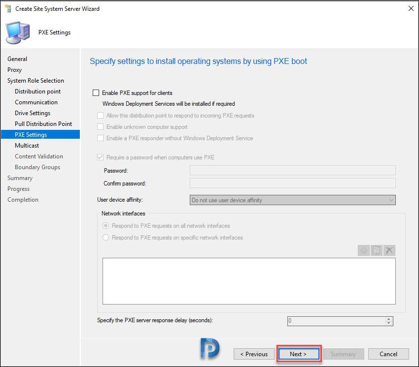 Windows Server Core Distribution Point