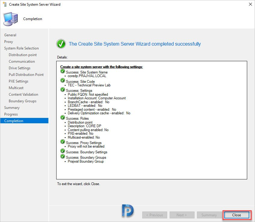 Windows Server Core Distribution Point