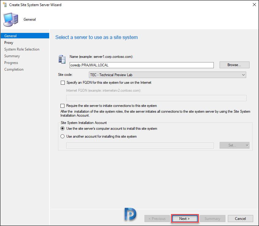 Windows Server Core as SCCM Distribution Point Snap5