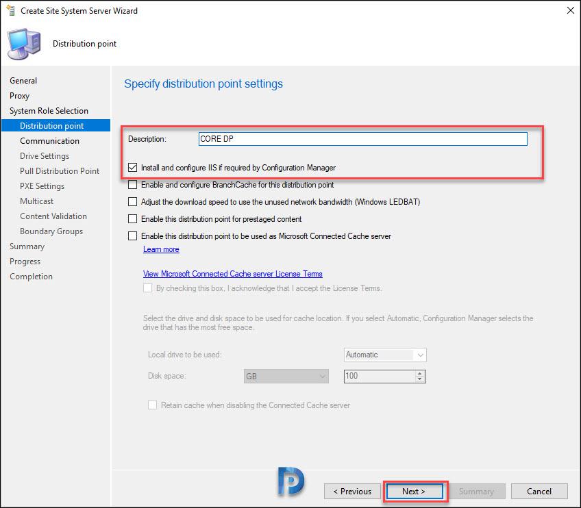 Windows Server Core as SCCM Distribution Point Snap8