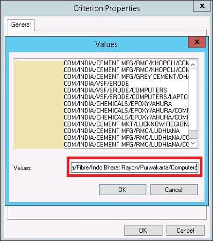 Select Active Directory OU