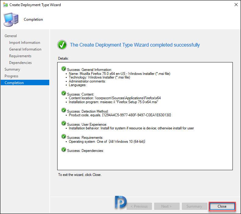 Deploy Firefox MSI Installer Using SCCM Snap17