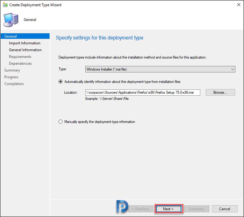 Add 32-bit Firefox Application in SCCM