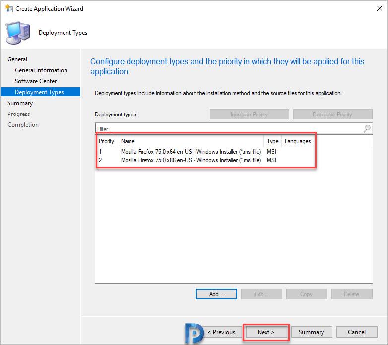 Deploy Firefox MSI Installer Using SCCM Snap22
