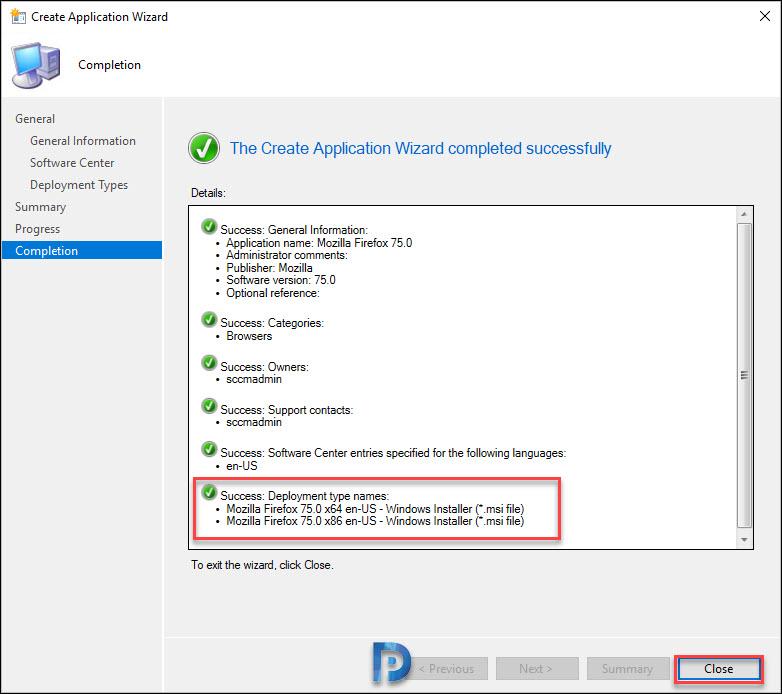 Deploy Firefox MSI Installer Using SCCM Snap23