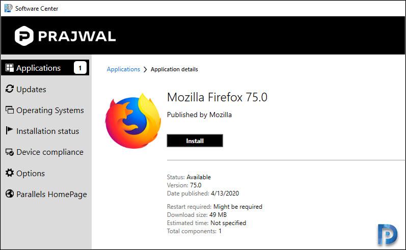Deploy Firefox MSI Installer Using SCCM Snap31