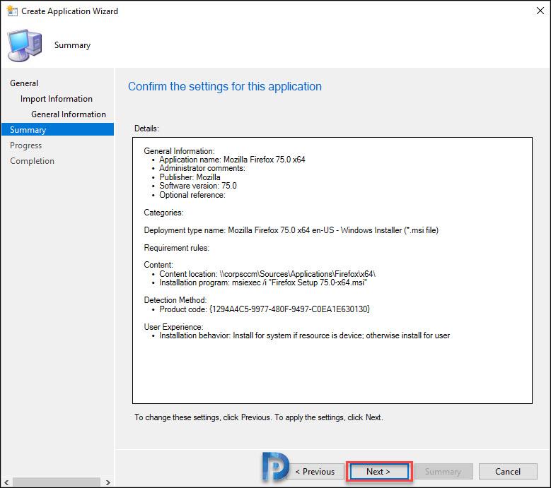 Deploy Firefox MSI Installer Using SCCM Snap7
