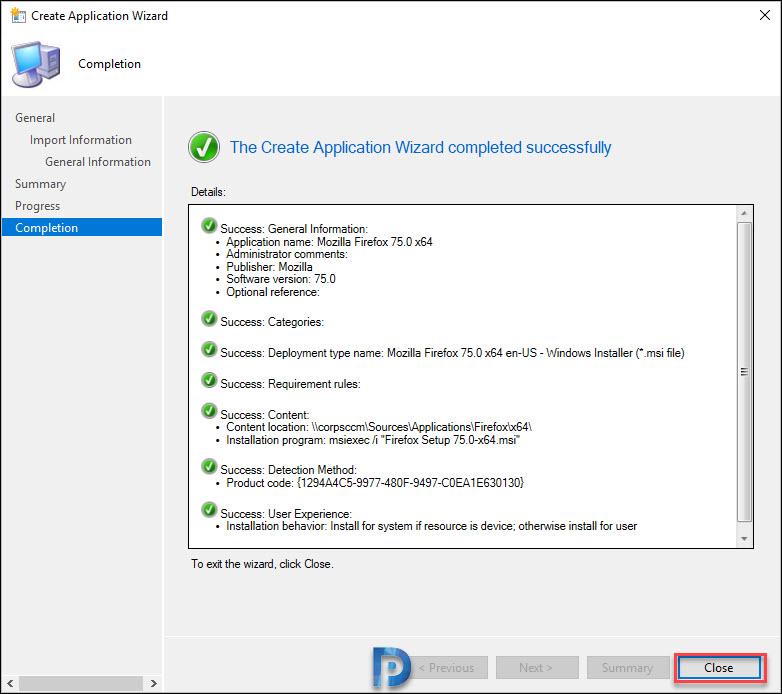 Deploy Firefox MSI Installer Using SCCM Snap8