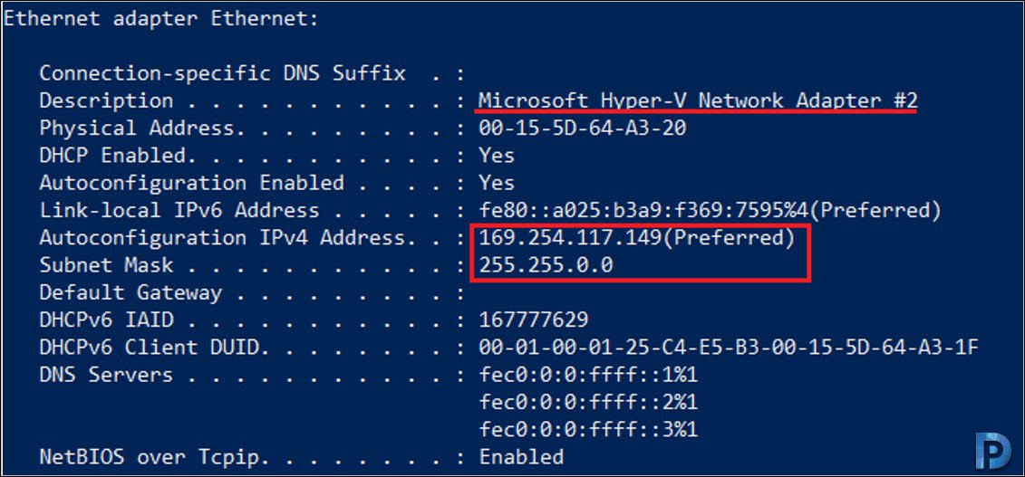 Hyper-V machines not connecting to the Internet