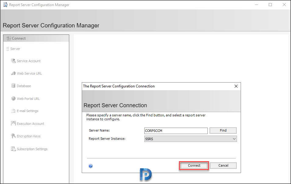 Configure the Reporting Services Point
