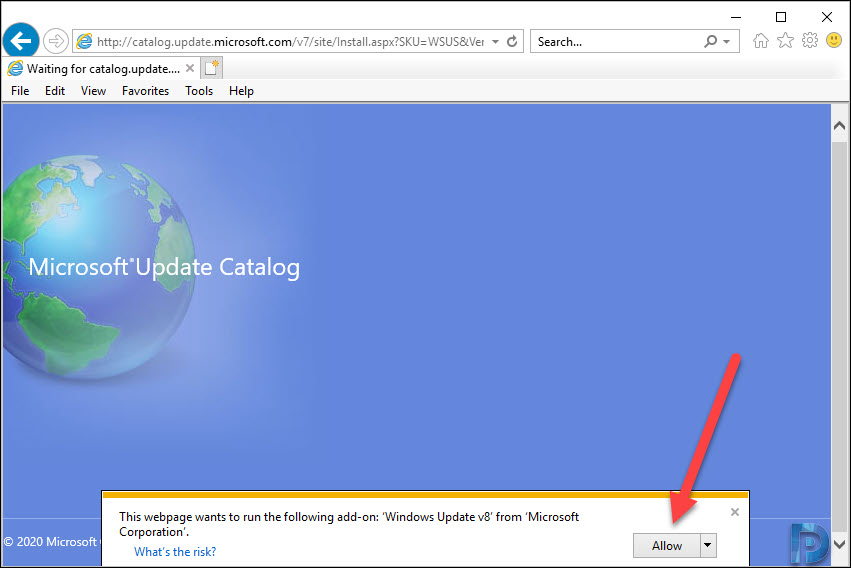 WSUS Update Catalog Add Button Missing