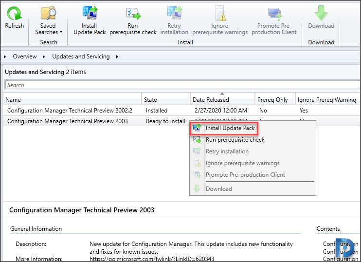 Install SCCM Technical Preview 2003