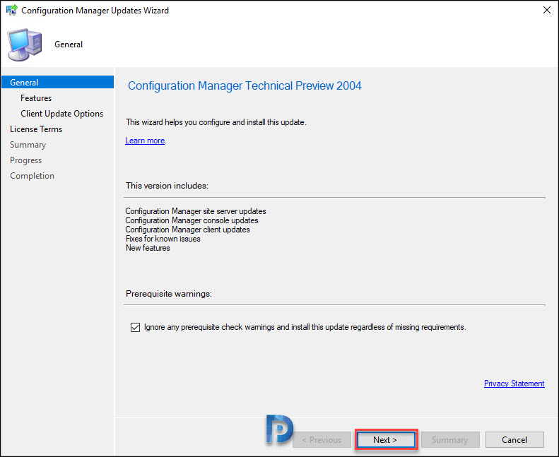 Install ConfigMgr 2004 Technical Preview