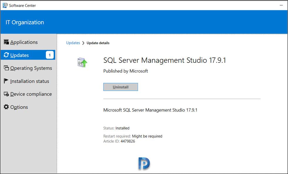 Install SQL Server Management Studio Updates