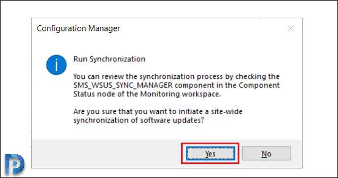 Run Software Updates Synchronization