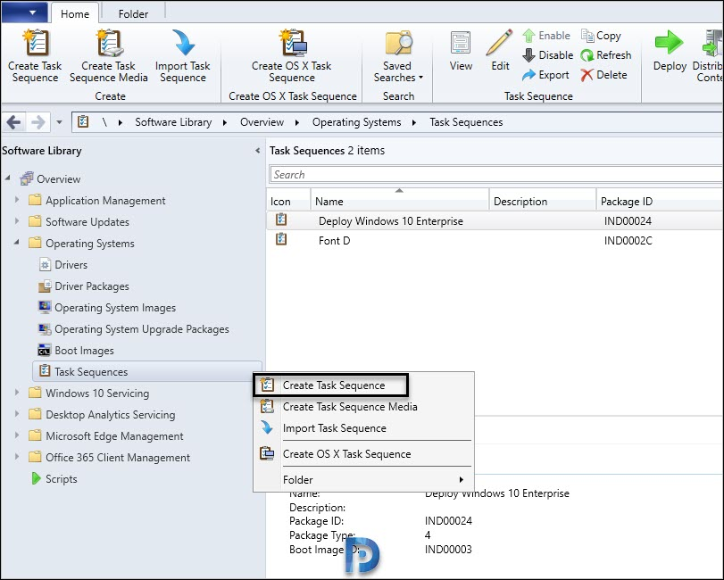 Create SCCM Task Sequence to deploy Windows 10 2004