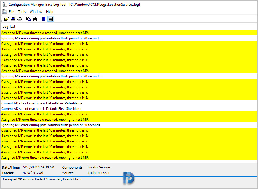 SCCM Application Download Stuck at 0 in Software Center Snap10