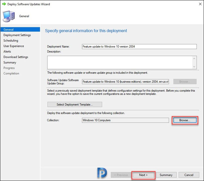 Deploy Feature Update to Windows 10 version 2004