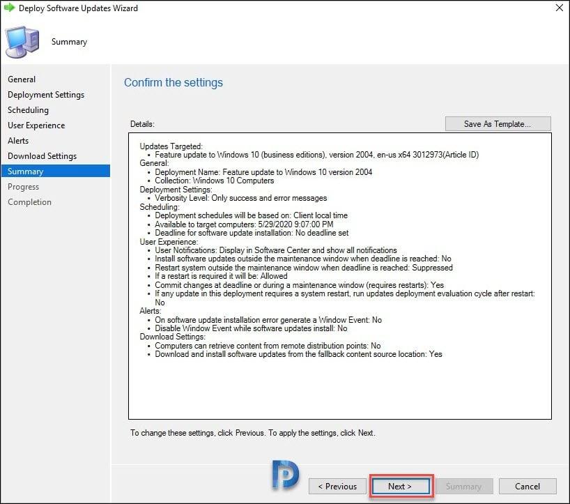 Upgrade to Windows 10 2004 using SCCM Snap22