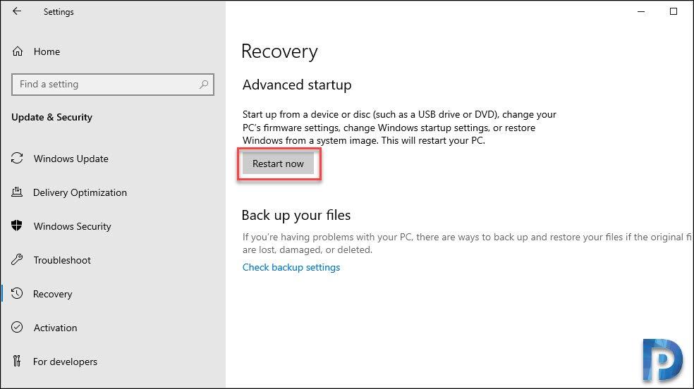 Restart the Windows machine