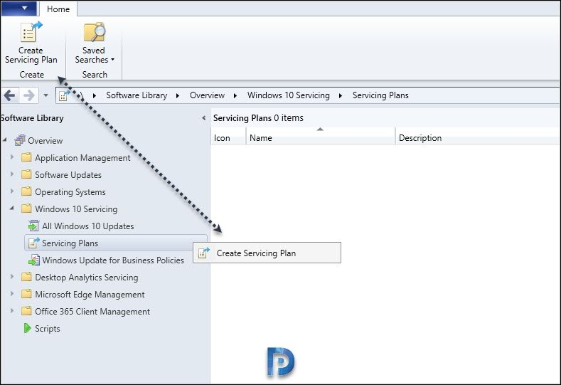 Create ConfigMgr Windows 10 2004 Servicing Plan
