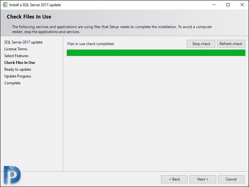 Install Cumulative Update for SQL Server 2017