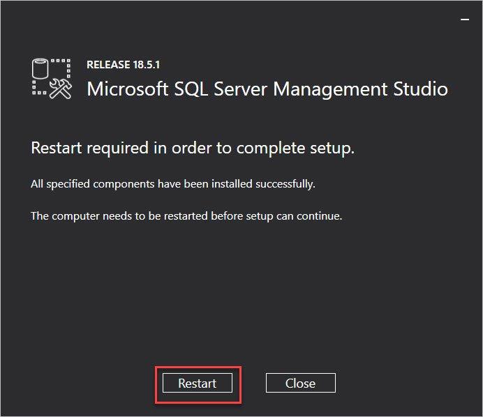 Install SQL Server Management Studio