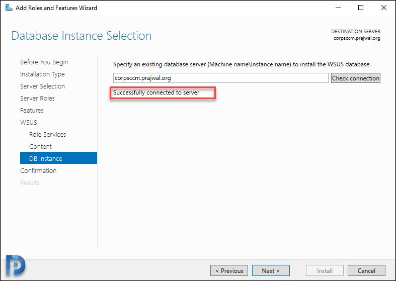 Database Instance Selection