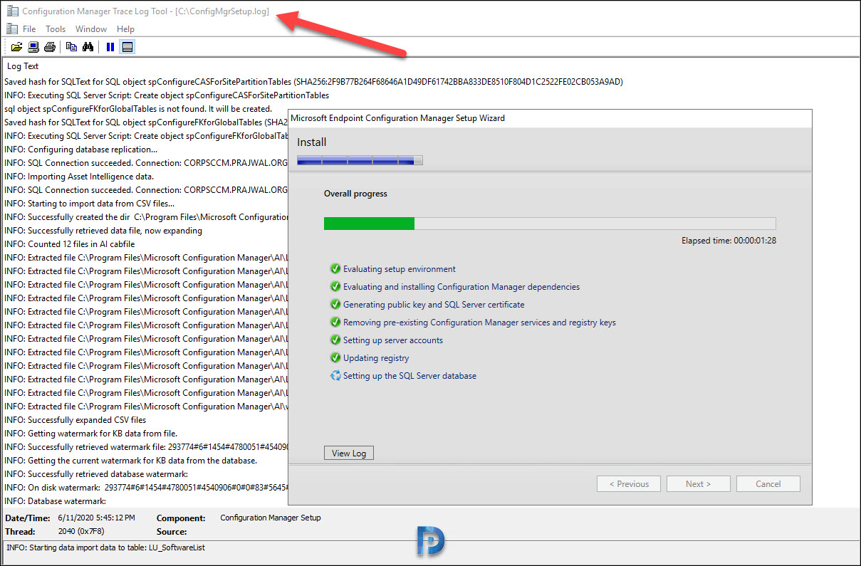 Install Configuration manager 2002