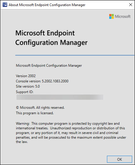 Configuration Manager 2002 Console Version