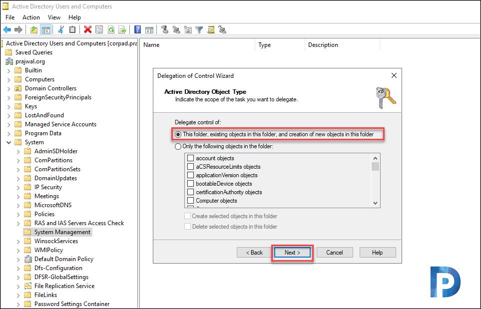 Grant SCCM Server Permissions on System Management Container