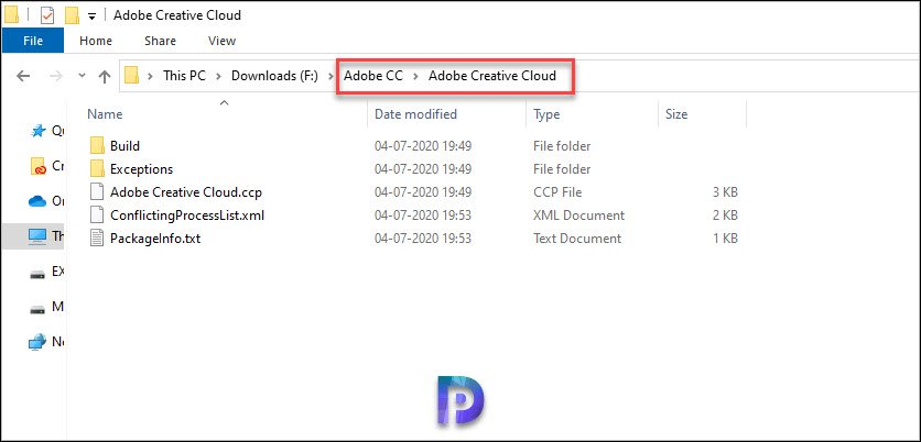 Adobe CC Package Contents
