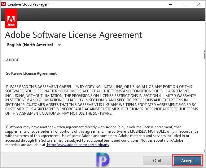 Install Adobe Creative Cloud (CC) Application
