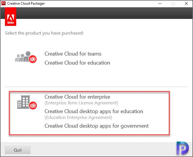 Create Package using Creative Cloud Packager