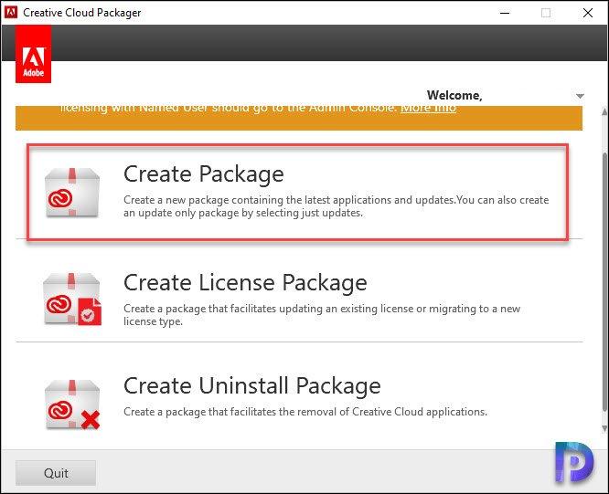 Create Adobe CC Package