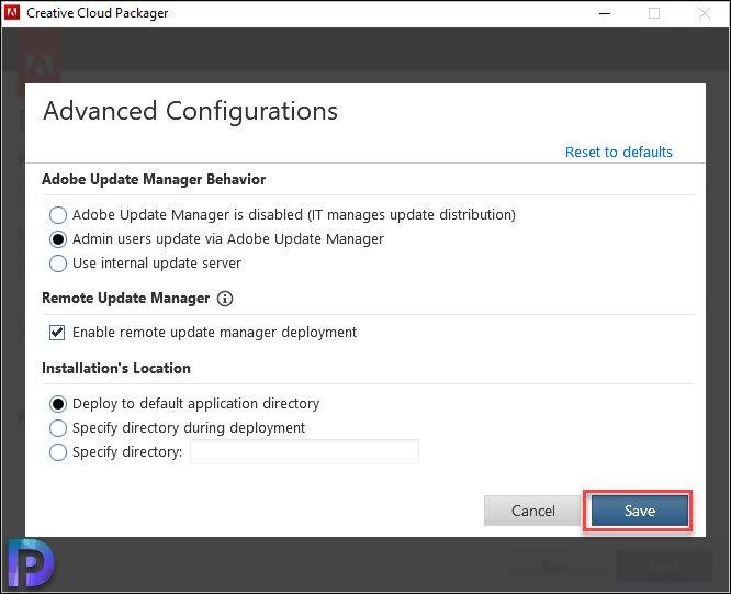 Creative Cloud Advanced Configurations