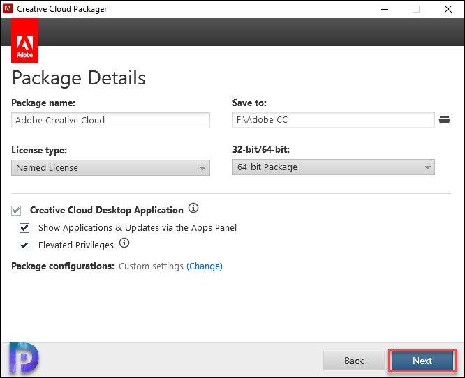 Create Package using Creative Cloud Packager